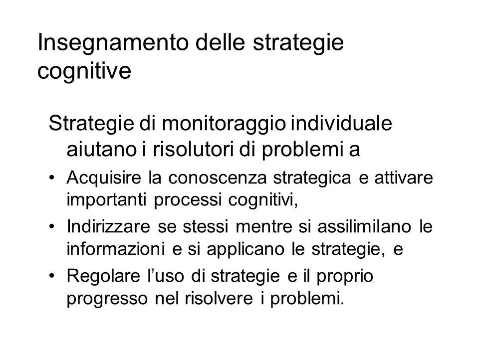 Insegnamento delle strategie cognitive