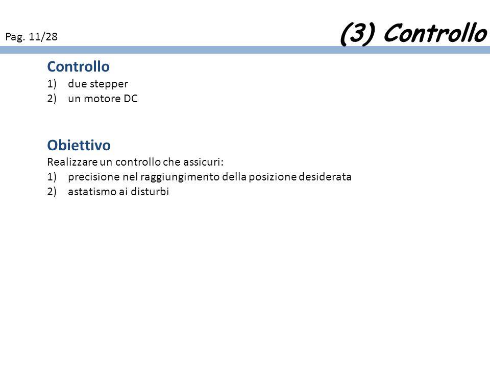 (3) Controllo Controllo Obiettivo Pag. 11/28 due stepper un motore DC