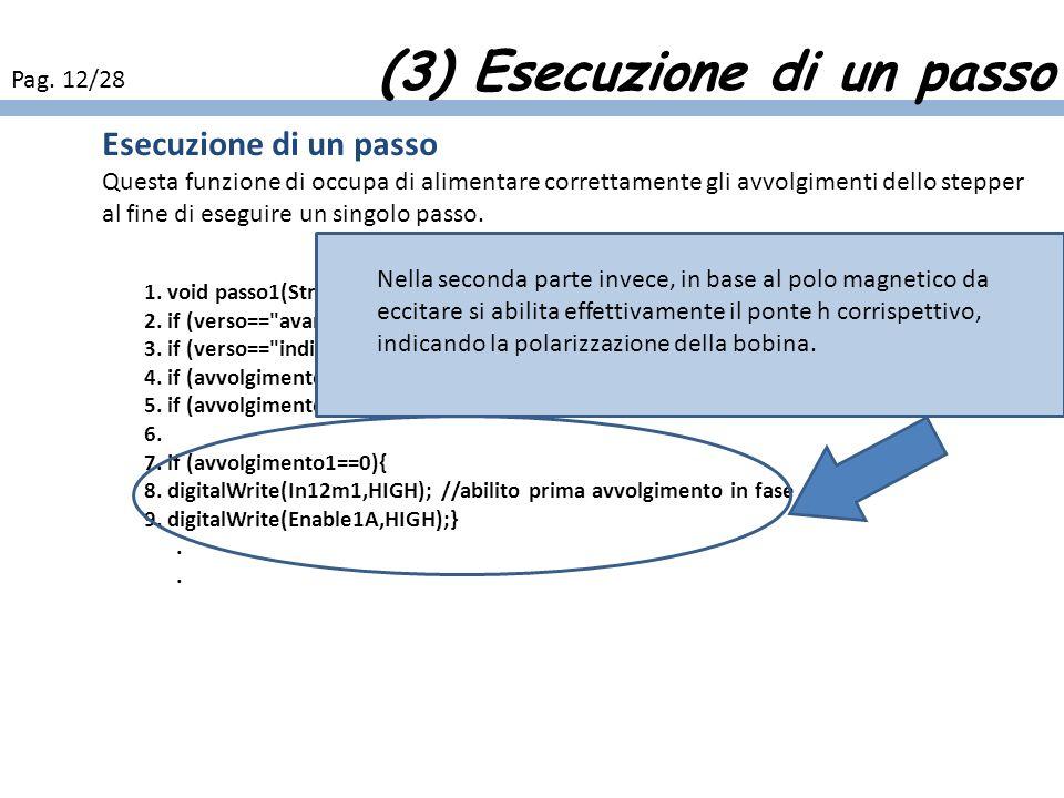 (3) Esecuzione di un passo