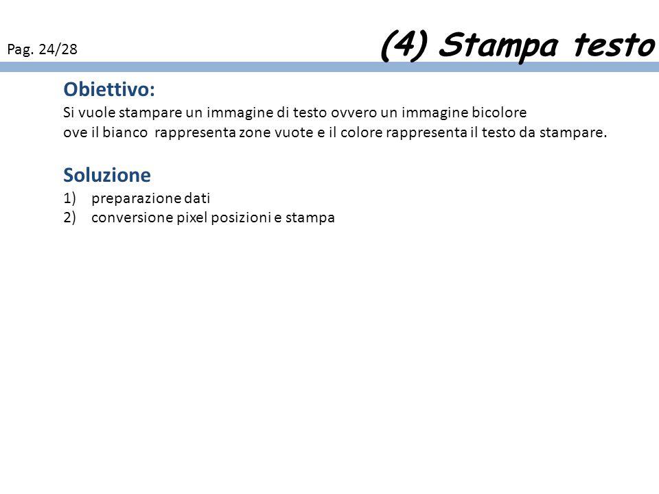(4) Stampa testo Obiettivo: Soluzione Pag. 24/28