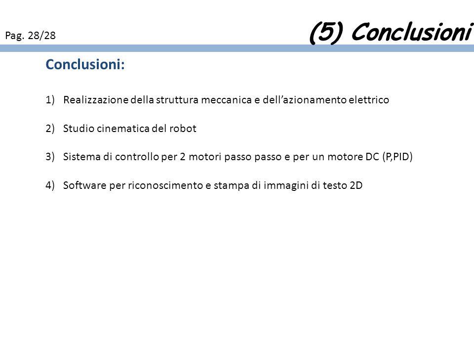 (5) Conclusioni Conclusioni: Pag. 28/28