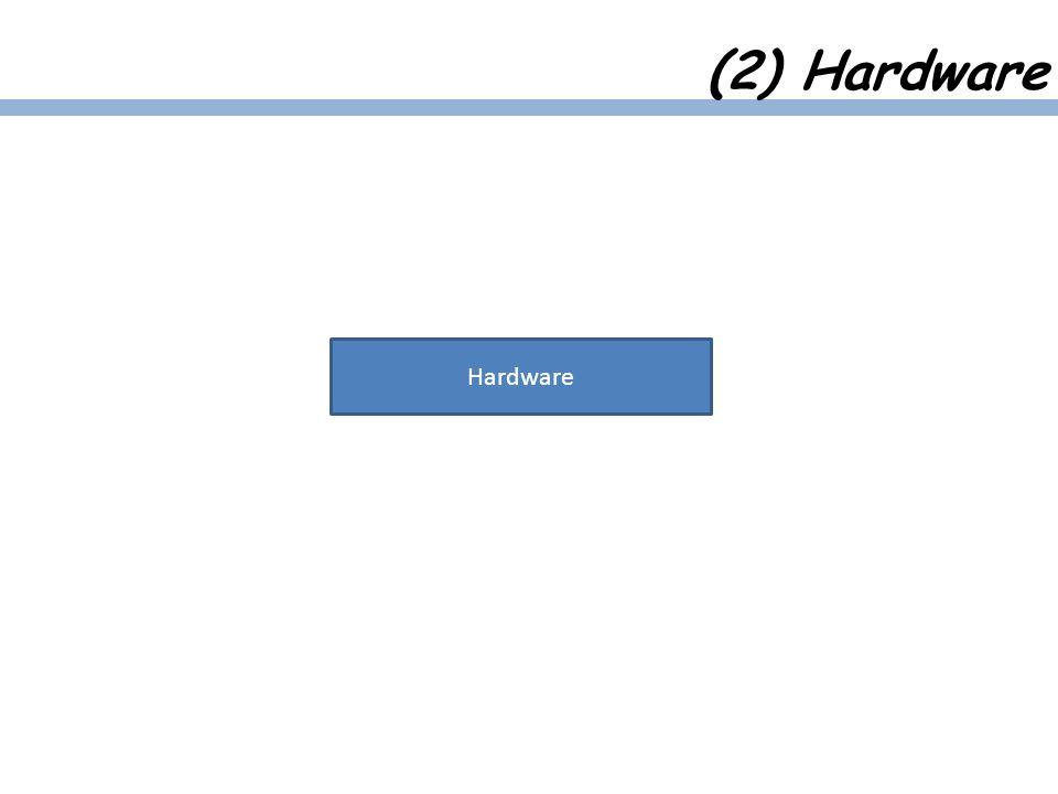 (2) Hardware Hardware