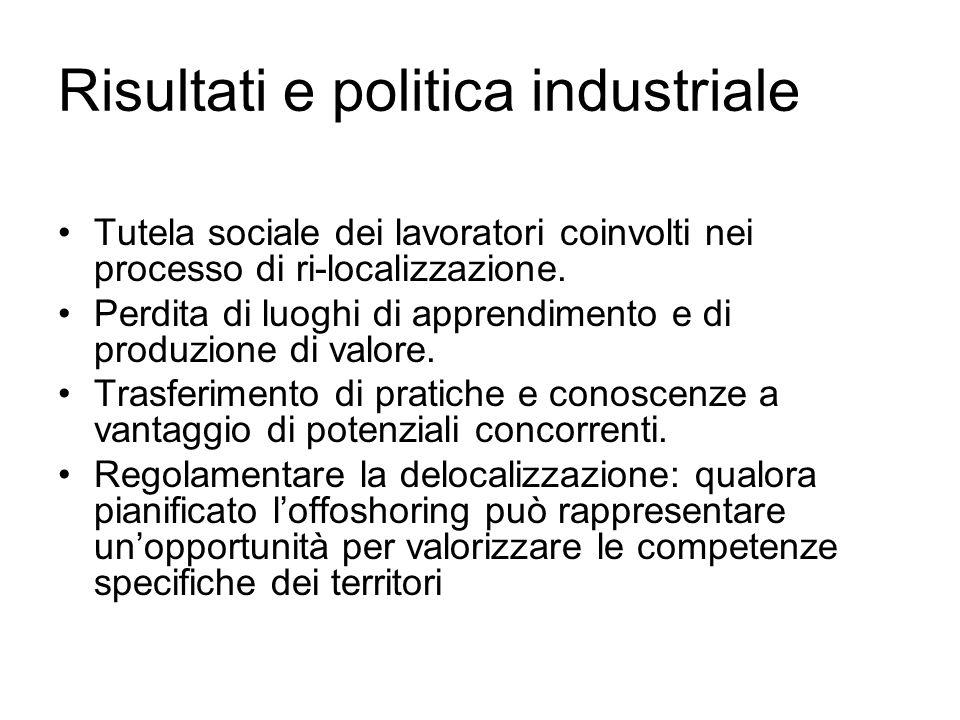 Risultati e politica industriale