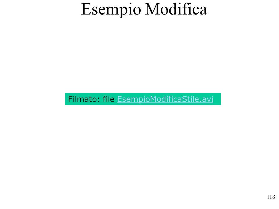 Esempio Modifica Filmato: file EsempioModificaStile.avi