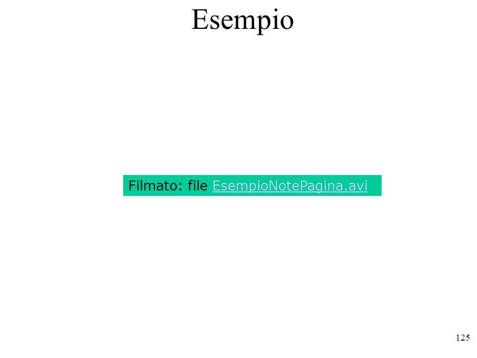 Esempio Filmato: file EsempioNotePagina.avi