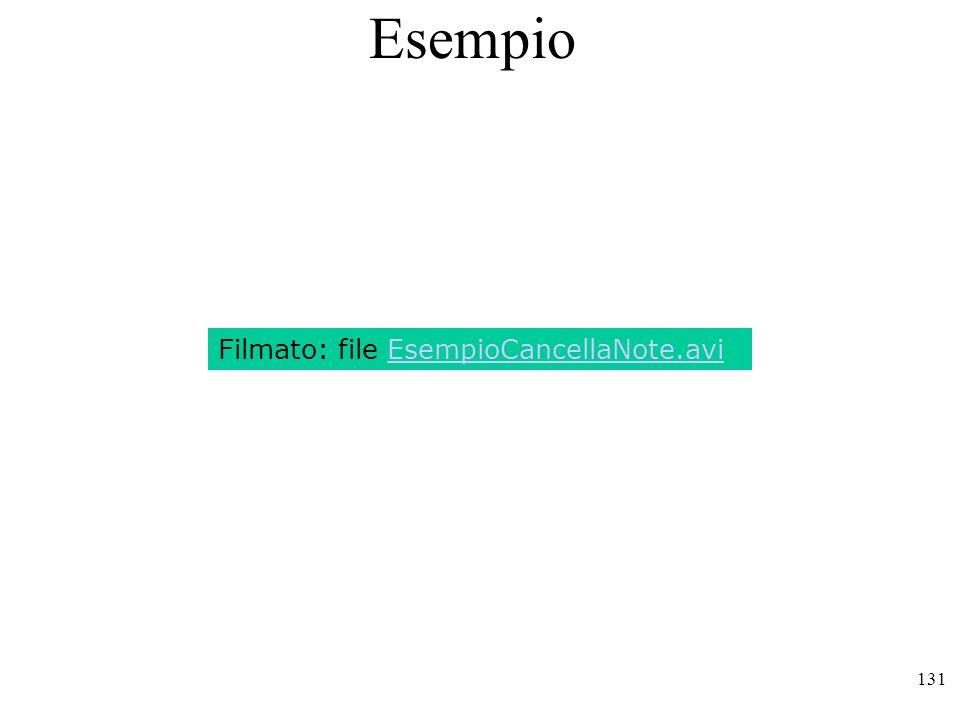 Esempio Filmato: file EsempioCancellaNote.avi