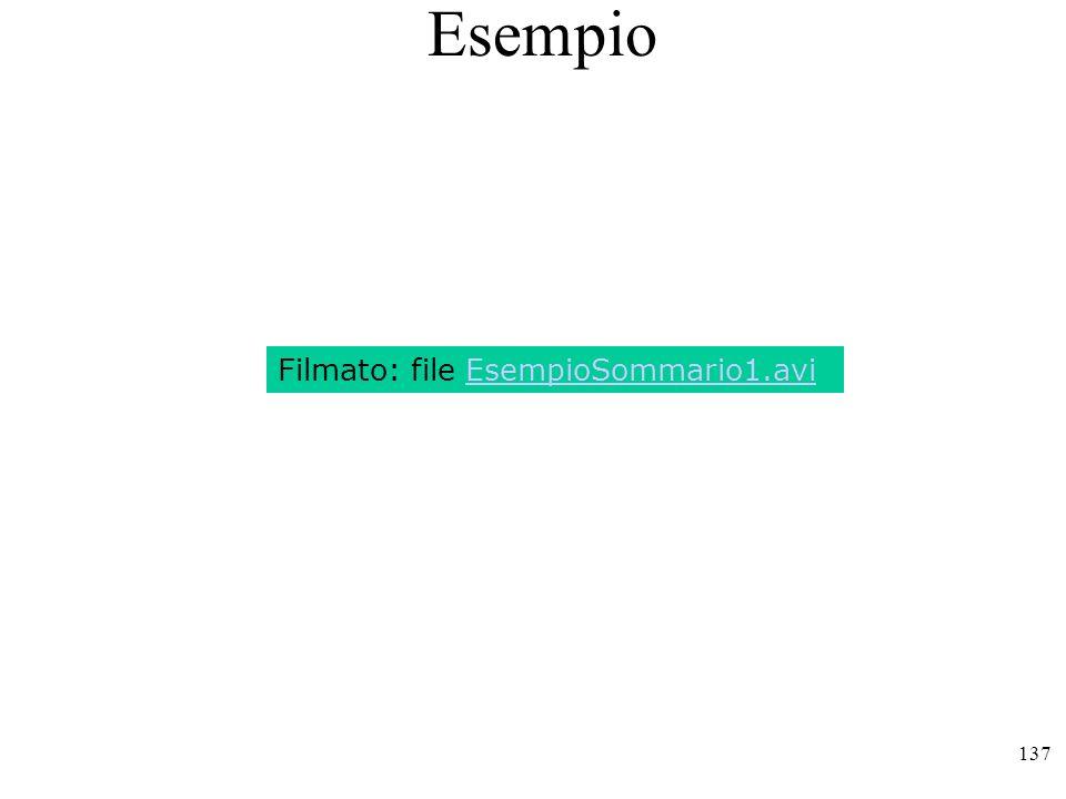 Esempio Filmato: file EsempioSommario1.avi