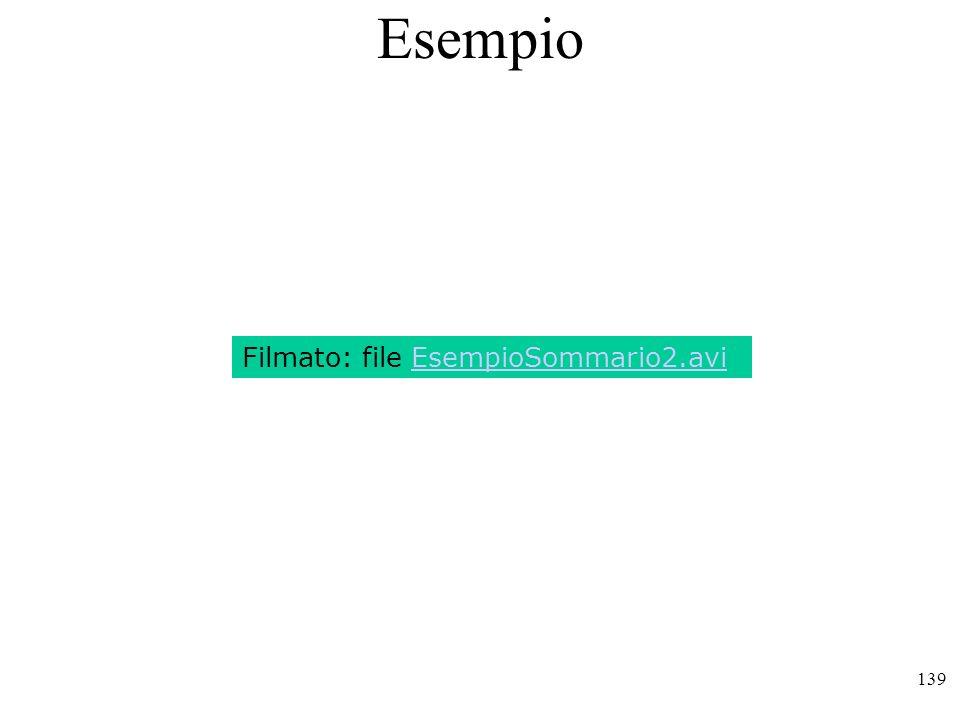 Esempio Filmato: file EsempioSommario2.avi