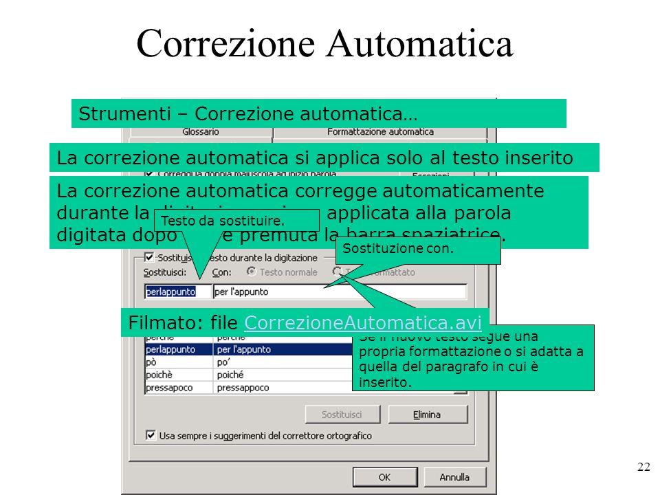 Correzione Automatica