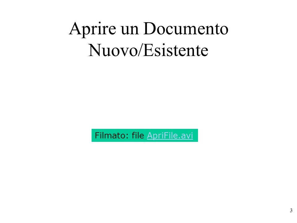 Aprire un Documento Nuovo/Esistente