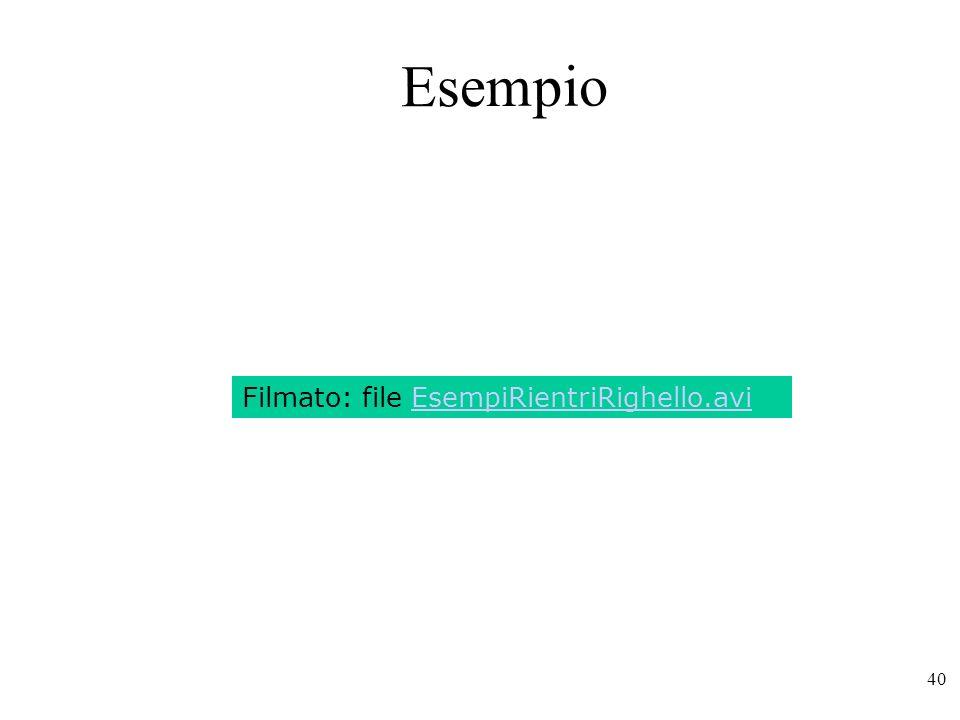Esempio Filmato: file EsempiRientriRighello.avi
