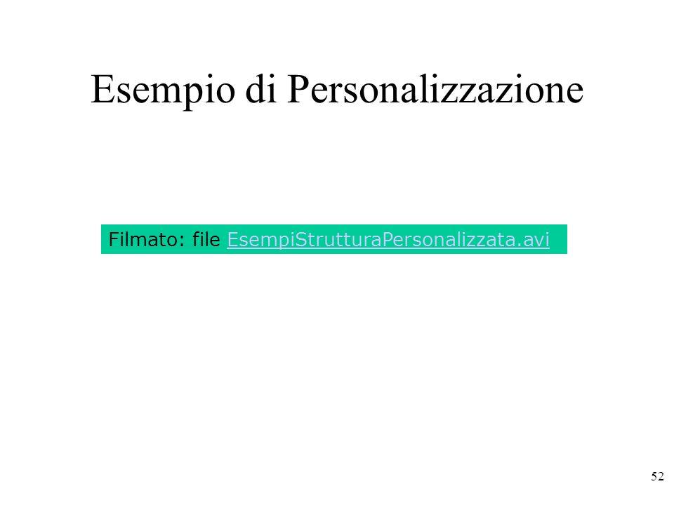 Esempio di Personalizzazione