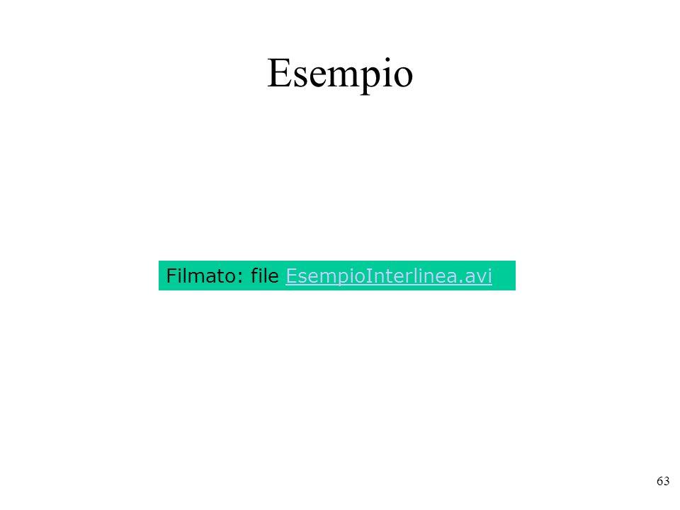 Esempio Filmato: file EsempioInterlinea.avi