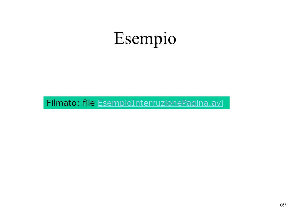Esempio Filmato: file EsempioInterruzionePagina.avi