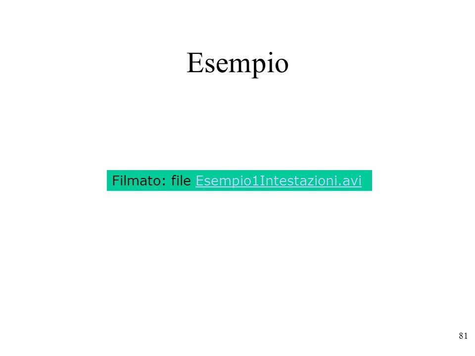 Esempio Filmato: file Esempio1Intestazioni.avi