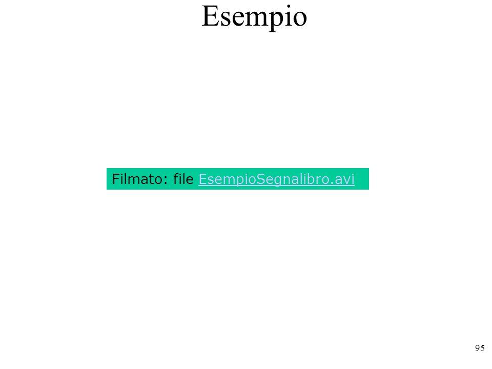 Esempio Filmato: file EsempioSegnalibro.avi