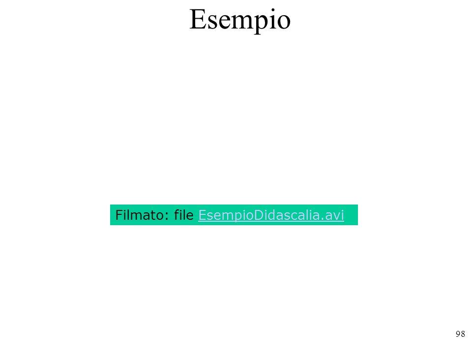 Esempio Filmato: file EsempioDidascalia.avi
