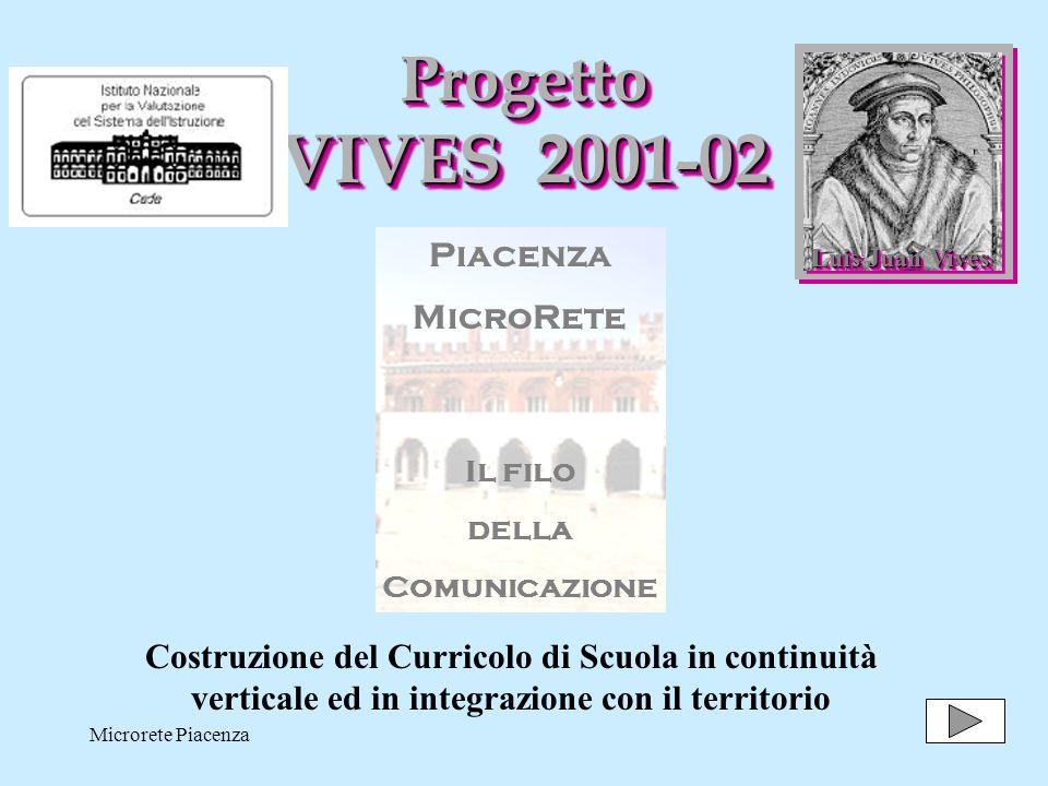 Progetto VIVES 2001-02 Piacenza MicroRete