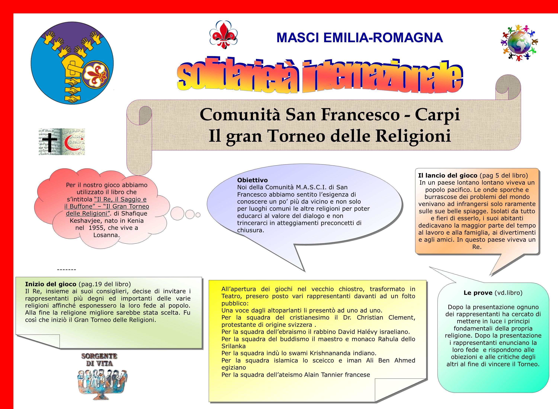 Comunità San Francesco - Carpi Il gran Torneo delle Religioni