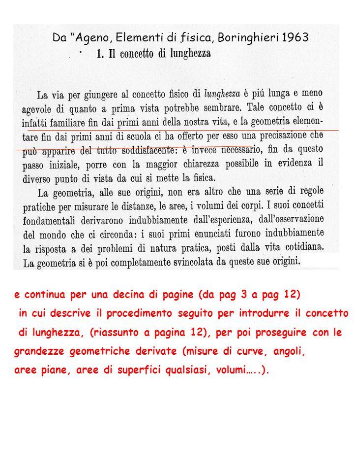 Da Ageno, Elementi di fisica, Boringhieri 1963