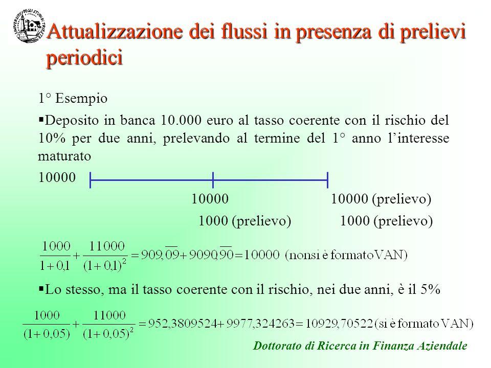 Attualizzazione dei flussi in presenza di prelievi periodici