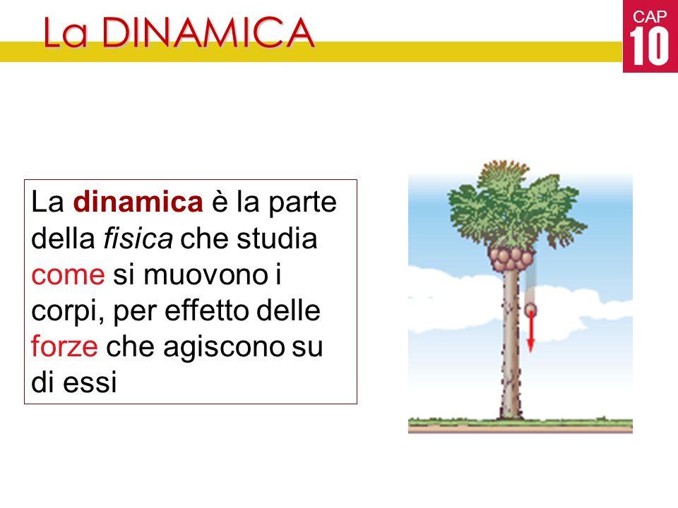 La DINAMICA La dinamica è la parte della fisica che studia come si muovono i corpi, per effetto delle forze che agiscono su di essi.