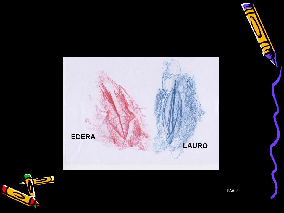 FOGLIE DI: EDERA LAURO PAG. .9 PAG. 9