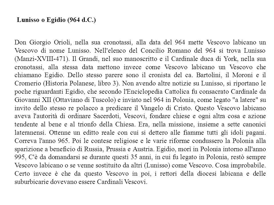 Lunisso o Egidio (964 d.C.)