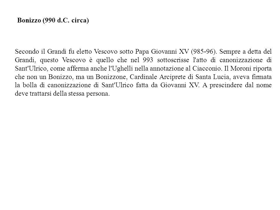 Bonizzo (990 d.C. circa)