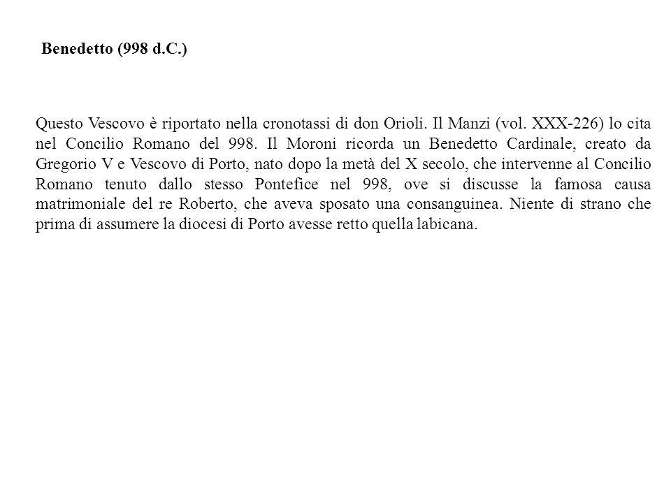 Benedetto (998 d.C.)