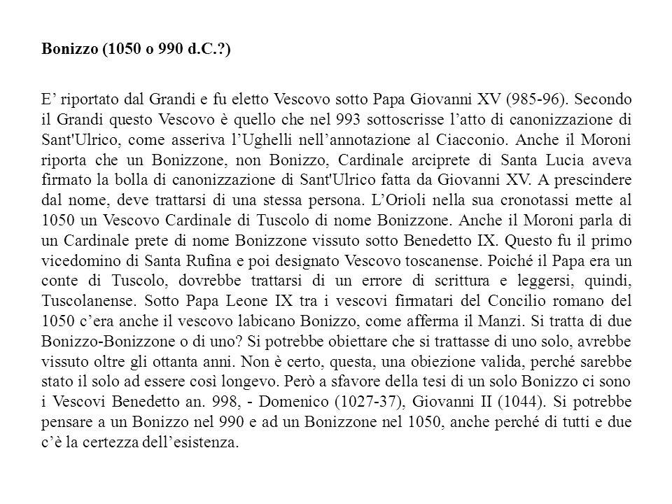 Bonizzo (1050 o 990 d.C. )