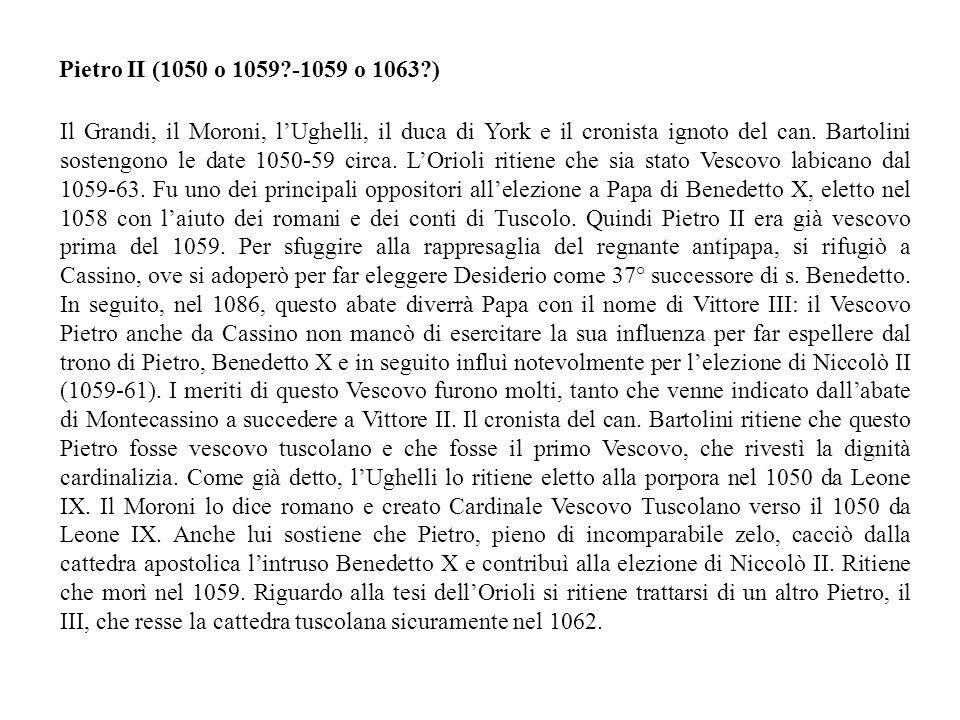 Pietro II (1050 o 1059 -1059 o 1063 )
