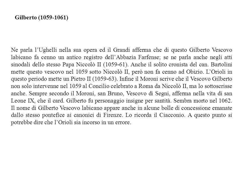 Gilberto (1059-1061)