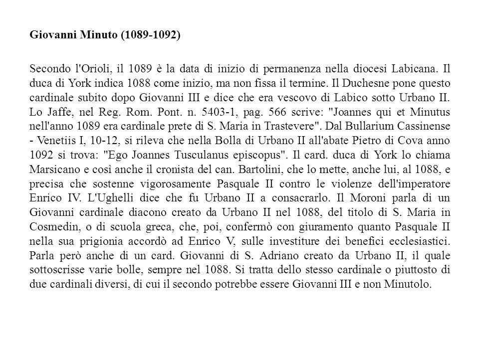 Giovanni Minuto (1089-1092)