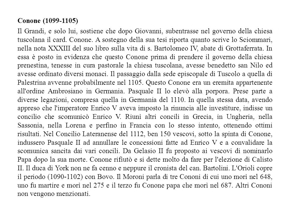 Conone (1099-1105)