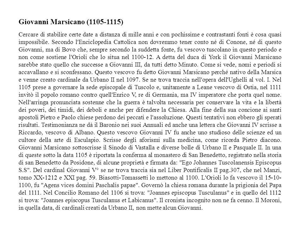 Giovanni Marsicano (1105-1115)