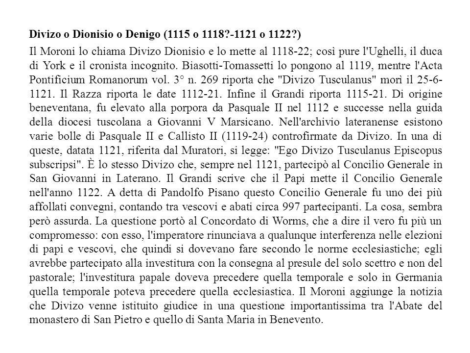 Divizo o Dionisio o Denigo (1115 o 1118 -1121 o 1122 )