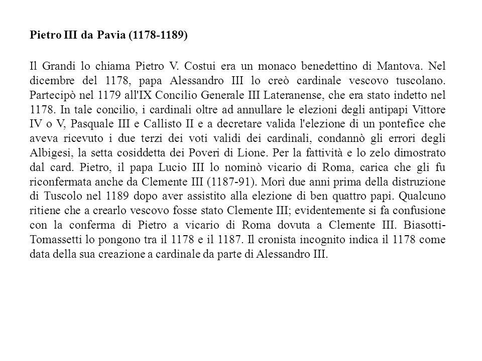 Pietro III da Pavia (1178-1189)