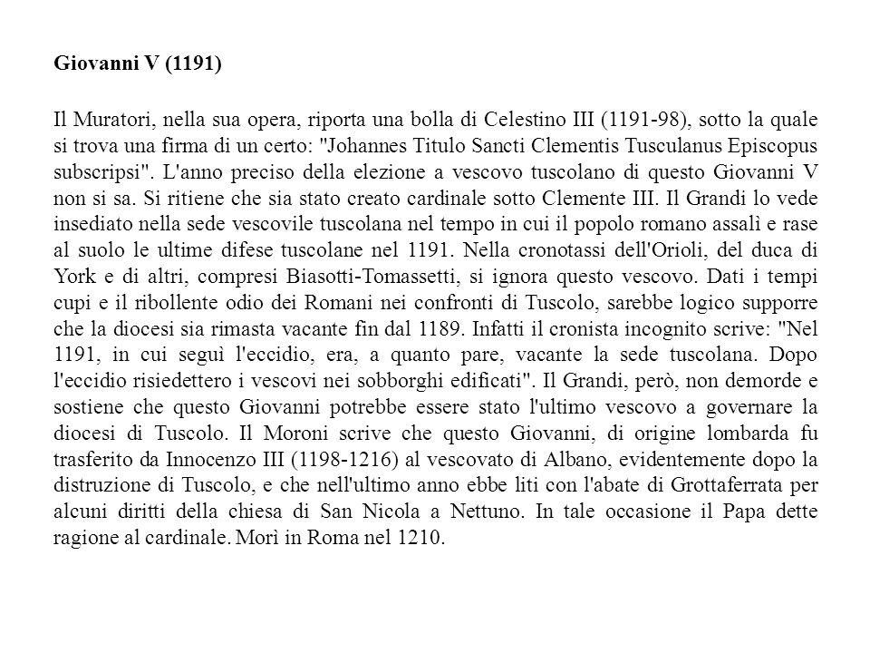 Giovanni V (1191)
