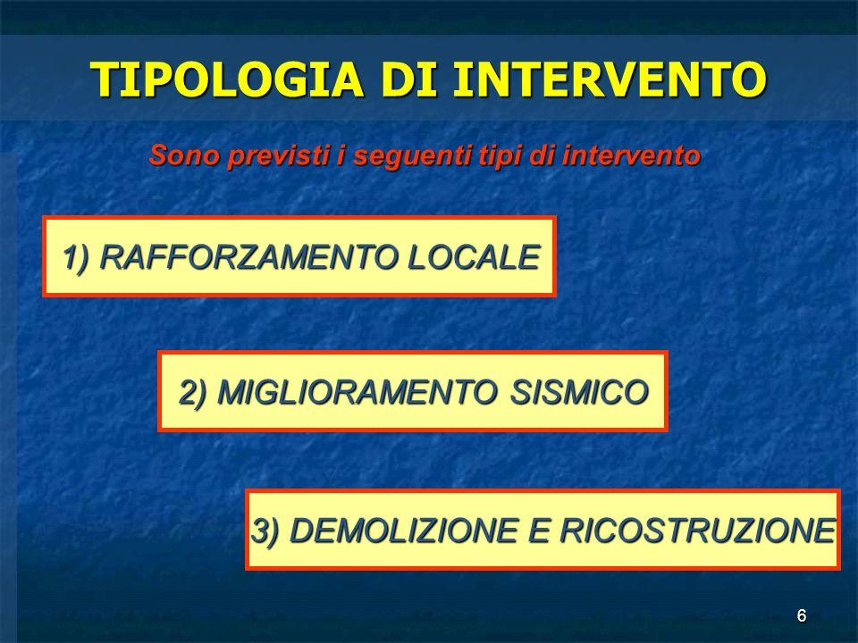 TIPOLOGIA DI INTERVENTO