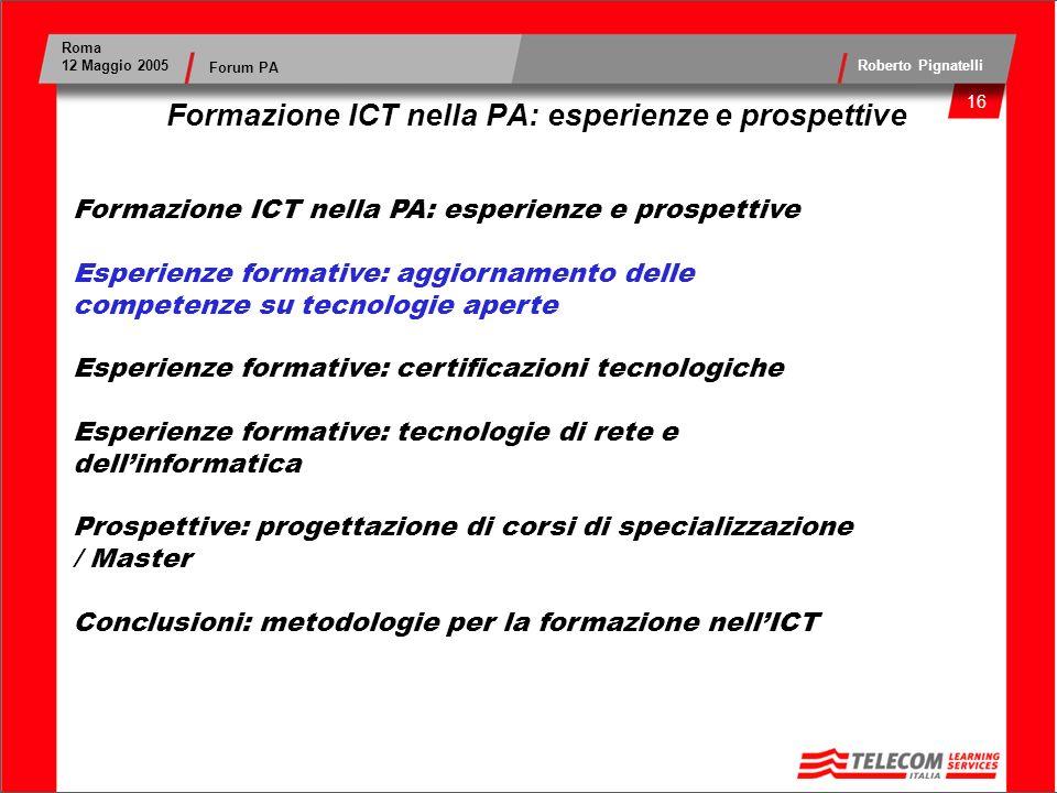 Formazione ICT nella PA: esperienze e prospettive