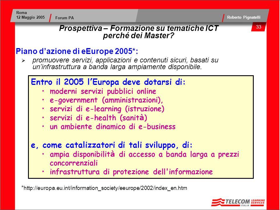 Prospettiva – Formazione su tematiche ICT perché dei Master