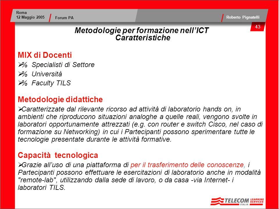 Metodologie per formazione nell'ICT Caratteristiche