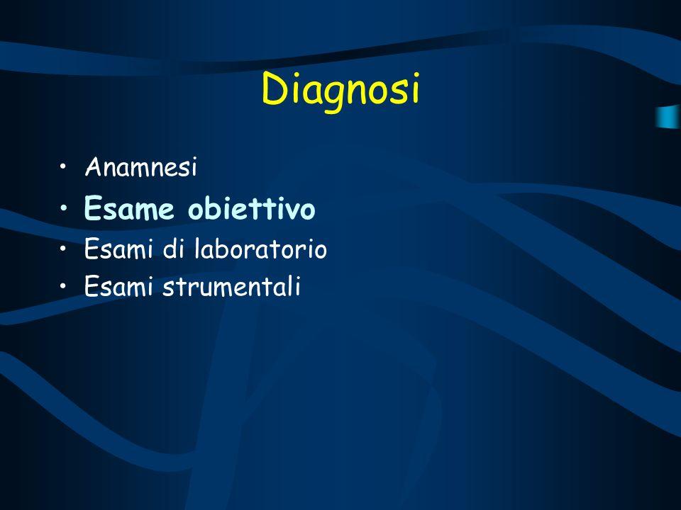 Diagnosi Esame obiettivo Anamnesi Esami di laboratorio
