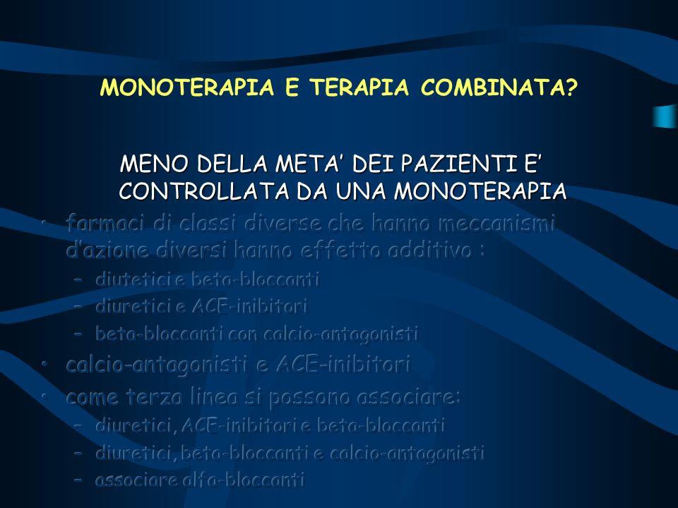 MONOTERAPIA E TERAPIA COMBINATA