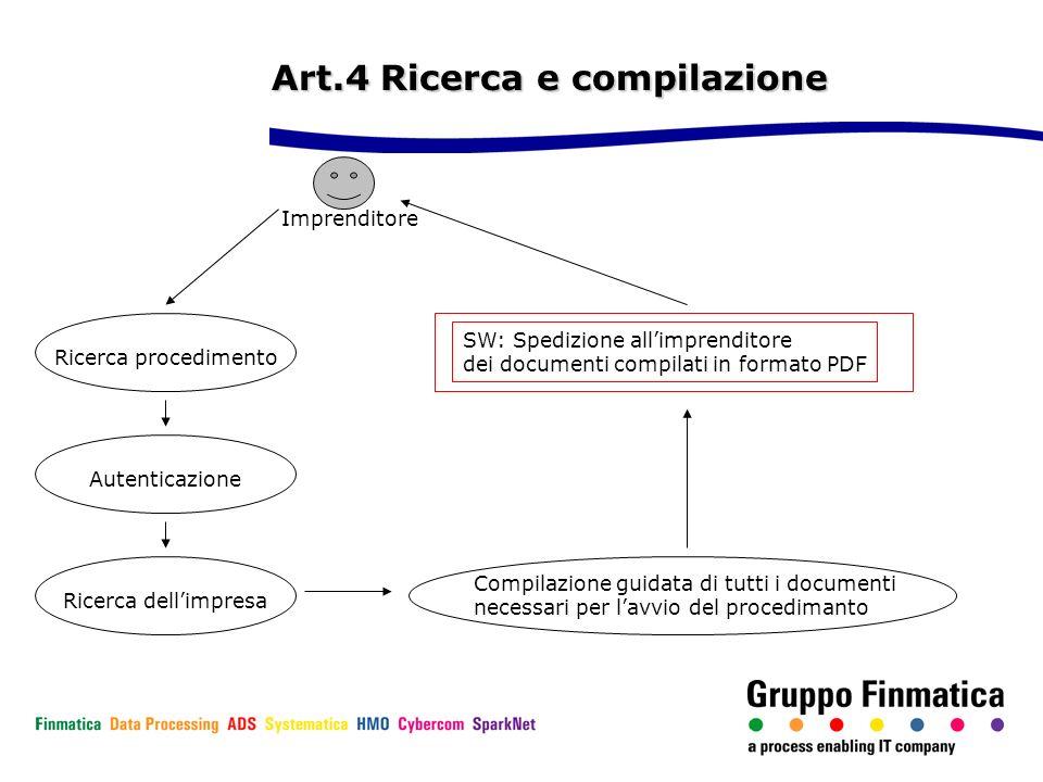 Art.4 Ricerca e compilazione