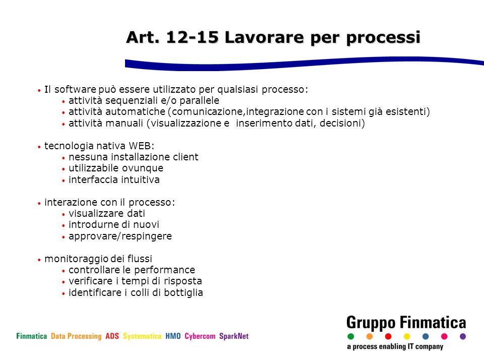 Art. 12-15 Lavorare per processi
