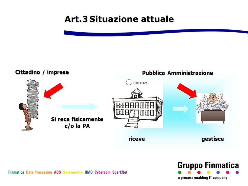 Art.3 Situazione attuale