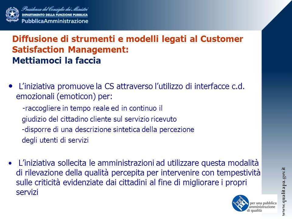 Diffusione di strumenti e modelli legati al Customer Satisfaction Management: Mettiamoci la faccia