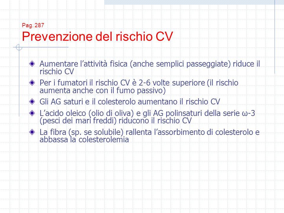 Pag. 287 Prevenzione del rischio CV